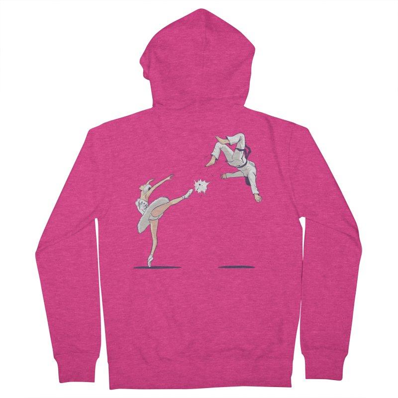 Swan Kick Women's Zip-Up Hoody by Flying Mouse365