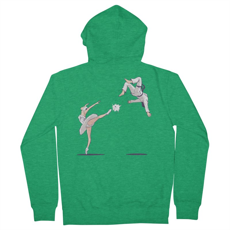 Swan Kick Men's Zip-Up Hoody by Flying Mouse365