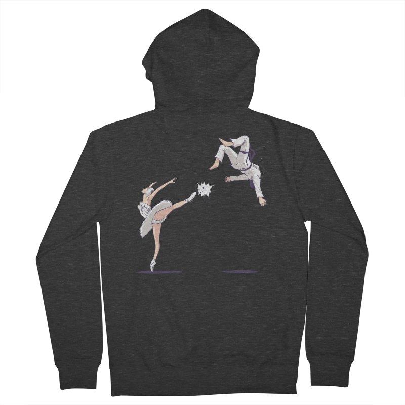 Swan Kick Men's Zip-Up Hoody by Flying Mouse365