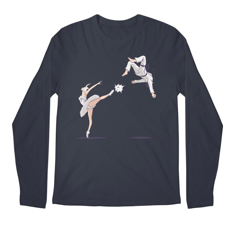 Swan Kick Men's Regular Longsleeve T-Shirt by Flying Mouse365