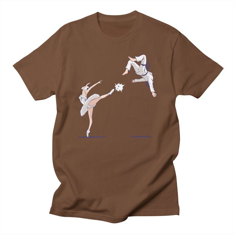 Swan Kick Women's Regular Unisex T-Shirt by Flying Mouse365