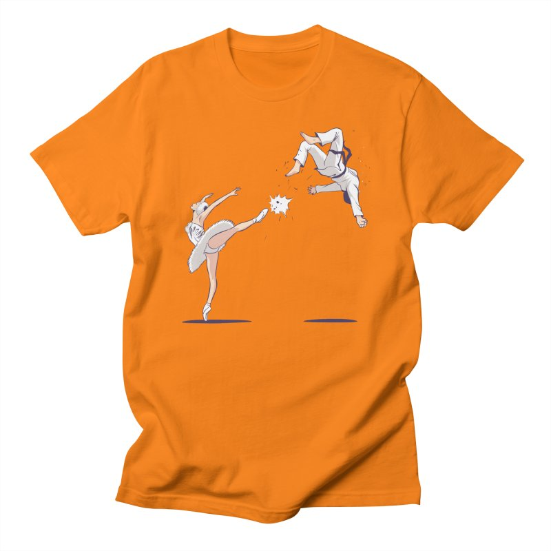 Swan Kick Men's T-Shirt by Flying Mouse365