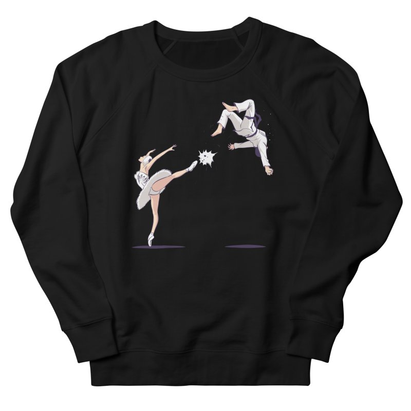 Swan Kick Women's French Terry Sweatshirt by Flying Mouse365