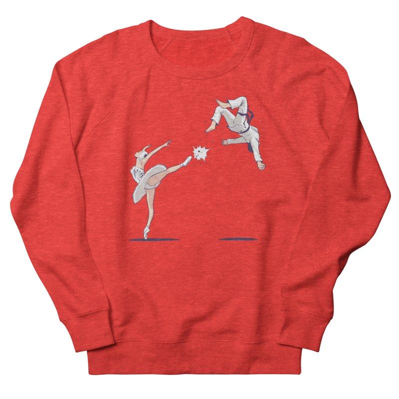 Swan Kick Men's Sweatshirt by Flying Mouse365