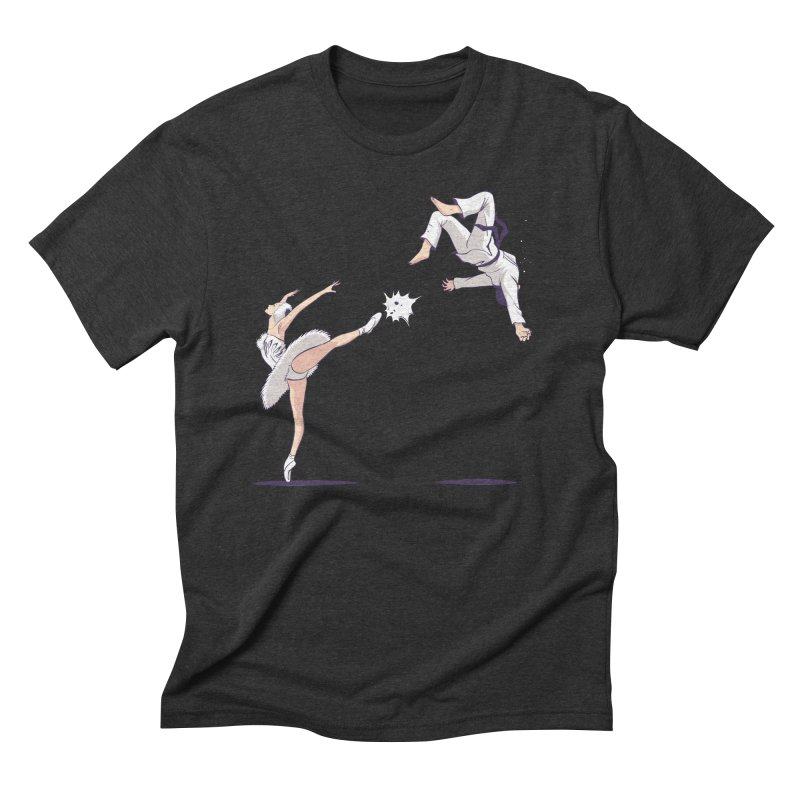 Swan Kick Men's Triblend T-Shirt by Flying Mouse365