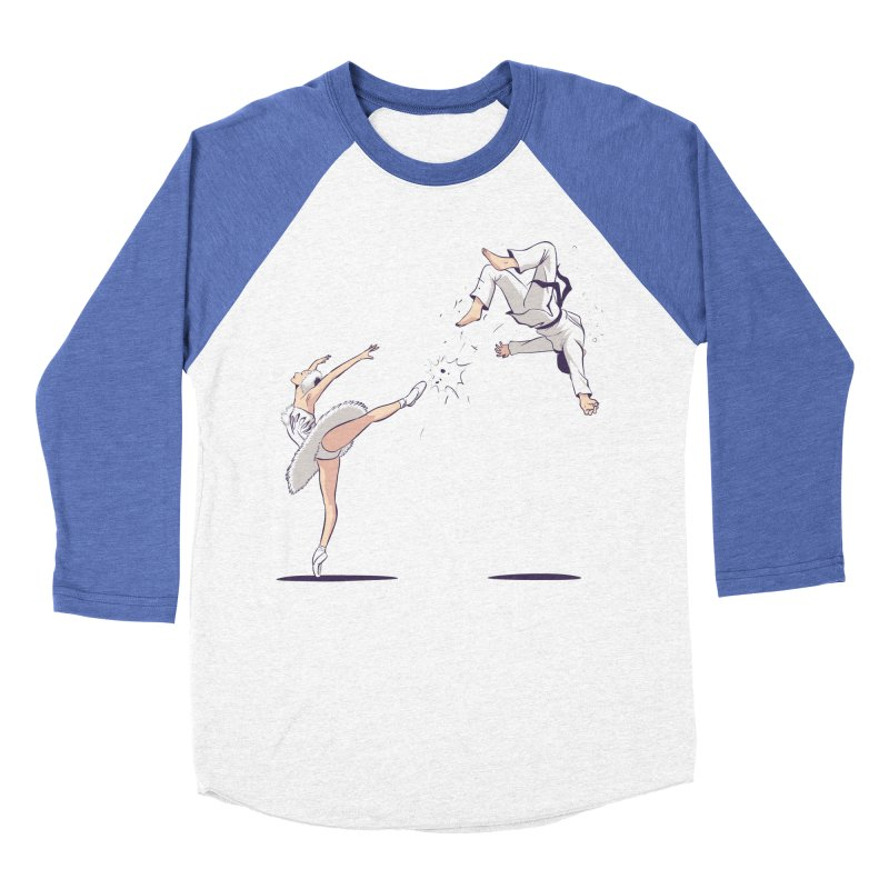 Swan Kick Women's Baseball Triblend Longsleeve T-Shirt by Flying Mouse365