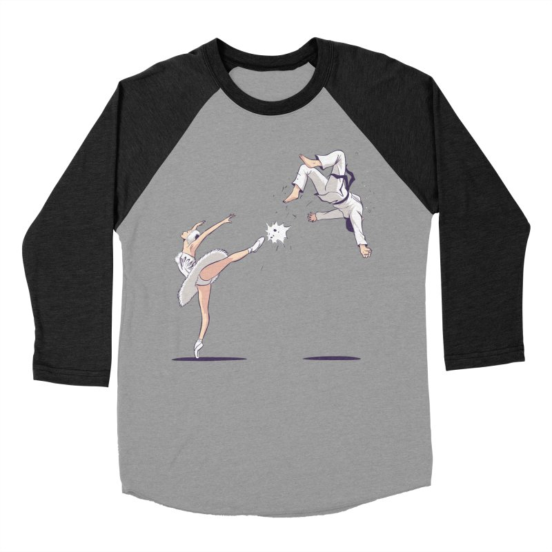 Swan Kick Women's Baseball Triblend Longsleeve T-Shirt by Flying Mouse365