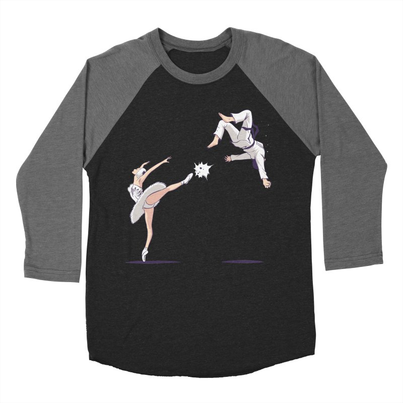 Swan Kick Men's Baseball Triblend T-Shirt by Flying Mouse365