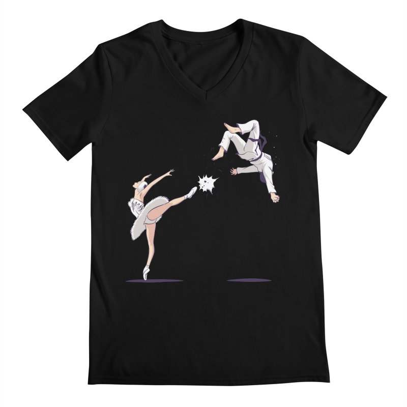 Swan Kick Men's  by Flying Mouse365