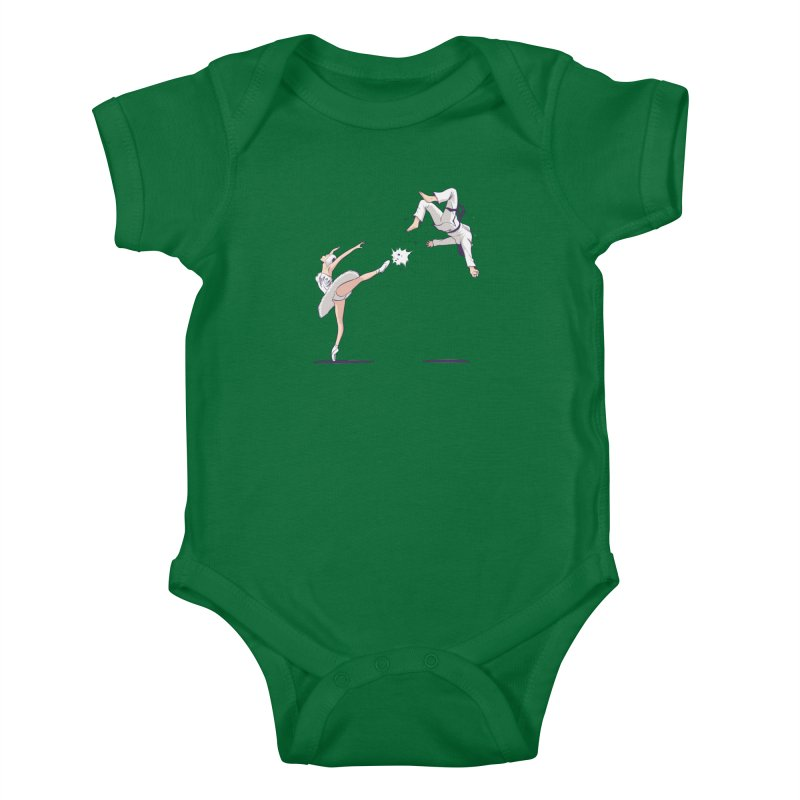 Swan Kick Kids Baby Bodysuit by Flying Mouse365