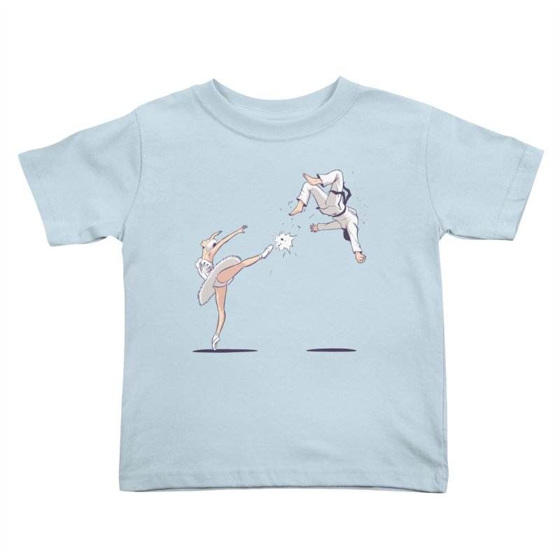 Swan Kick Kids Toddler T-Shirt by Flying Mouse365