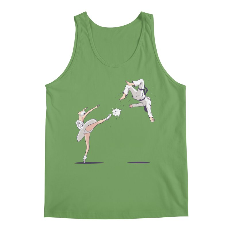 Swan Kick Men's Tank by Flying Mouse365