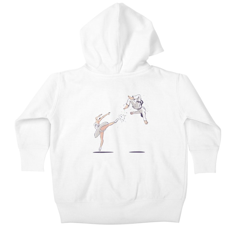 Swan Kick Kids Baby Zip-Up Hoody by Flying Mouse365