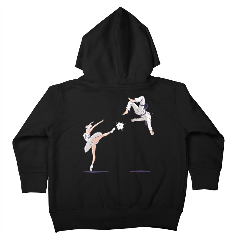 Swan Kick Kids Toddler Zip-Up Hoody by Flying Mouse365