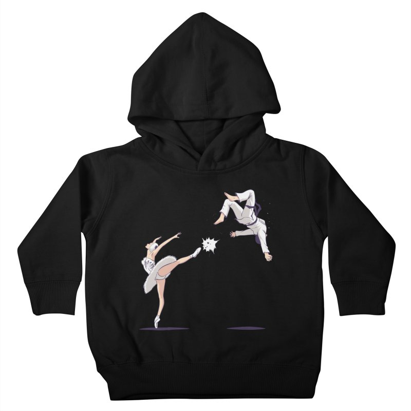 Swan Kick Kids Toddler Pullover Hoody by Flying Mouse365