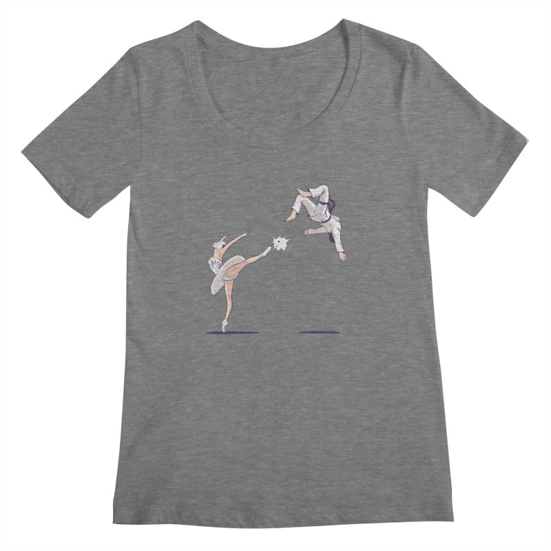 Swan Kick Women's Scoopneck by Flying Mouse365