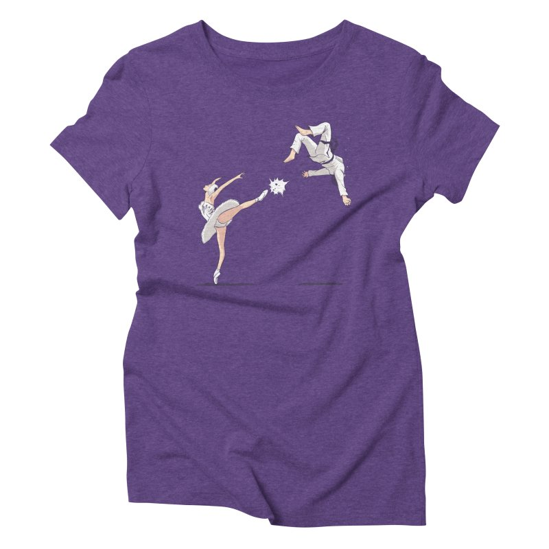 Swan Kick Women's Triblend T-Shirt by Flying Mouse365