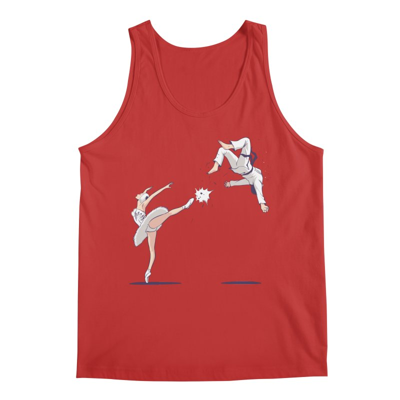 Swan Kick Men's Regular Tank by Flying Mouse365