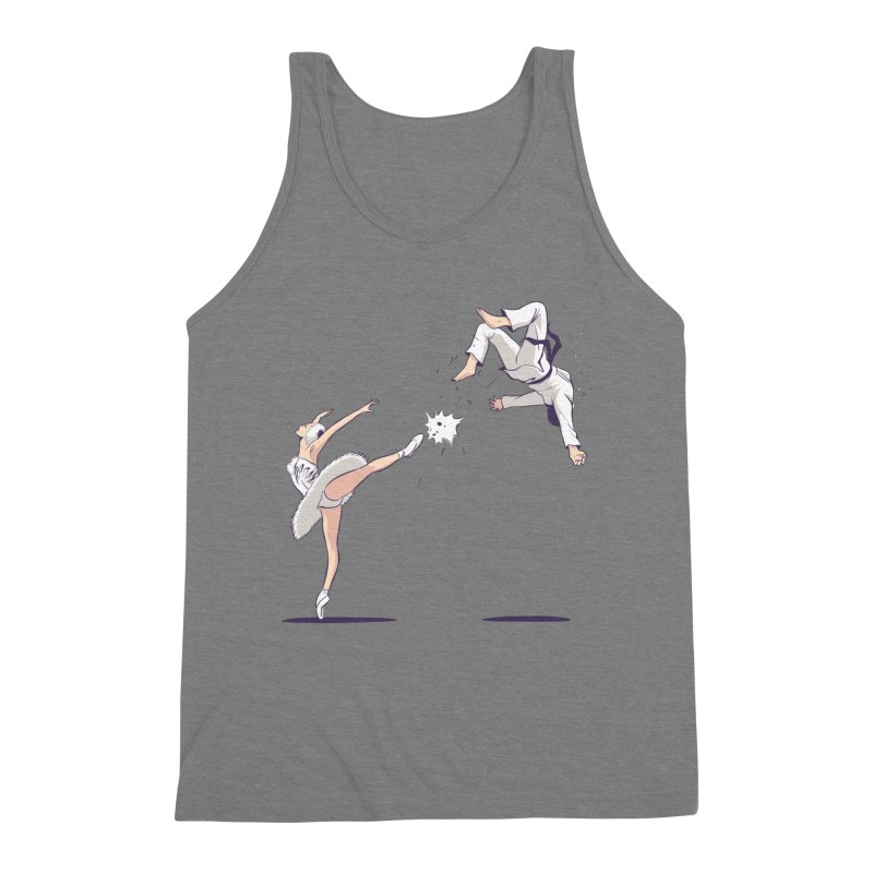 Swan Kick Men's Triblend Tank by Flying Mouse365