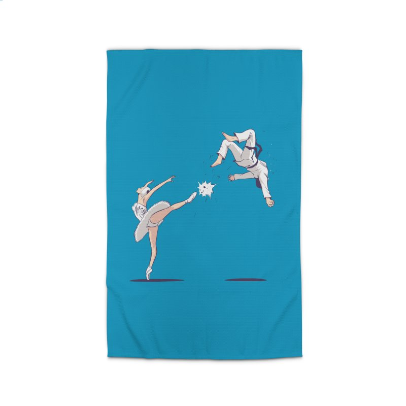 Swan Kick Home Rug by Flying Mouse365