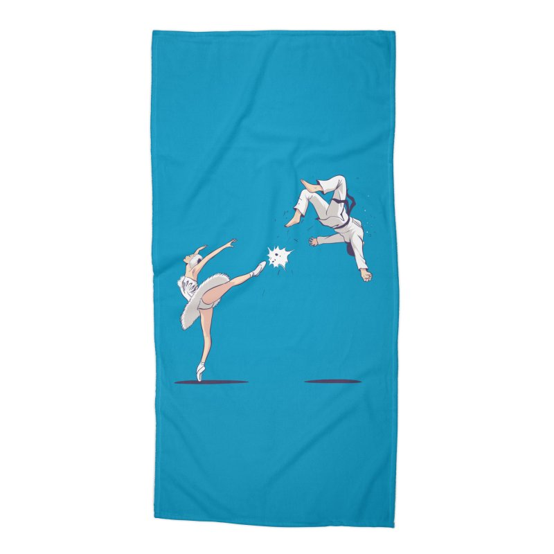 Swan Kick Accessories Beach Towel by Flying Mouse365