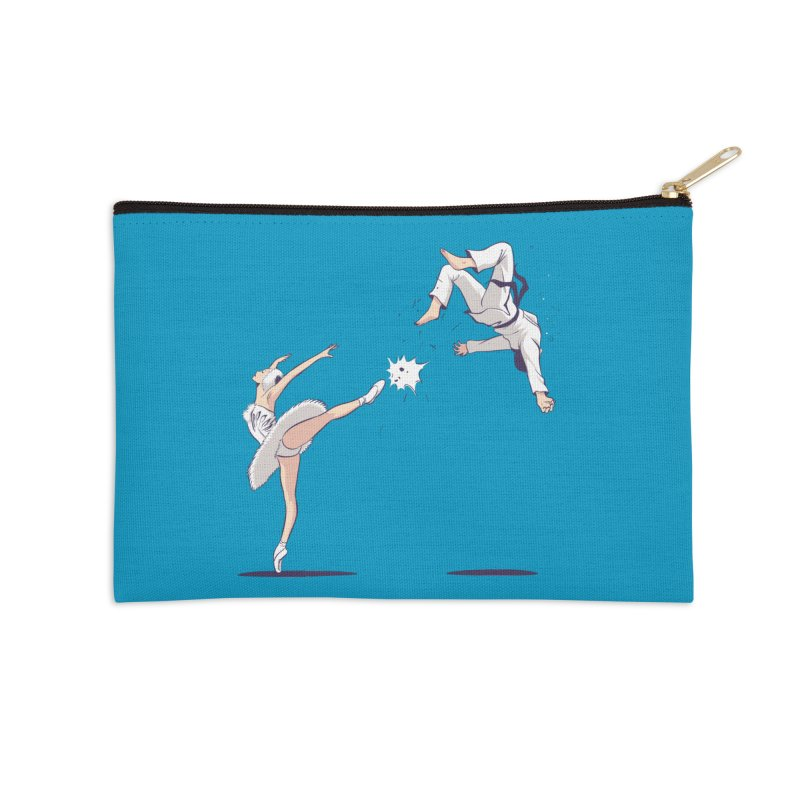 Swan Kick Accessories Zip Pouch by Flying Mouse365