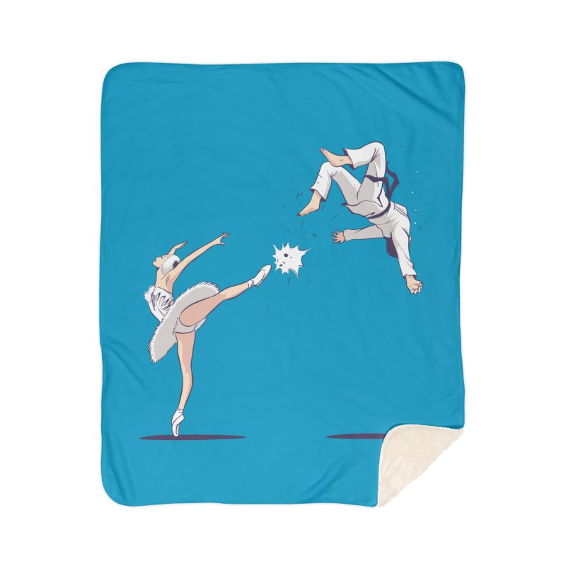 Swan Kick Home Sherpa Blanket Blanket by Flying Mouse365