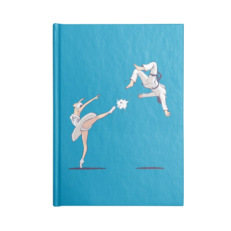 Swan Kick Accessories Blank Journal Notebook by Flying Mouse365