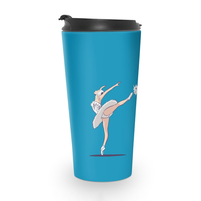 Swan Kick Accessories Travel Mug by Flying Mouse365