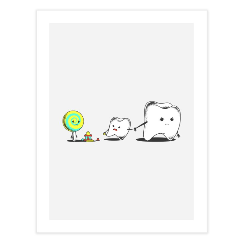 Bad Friend Home Fine Art Print by Flying Mouse365