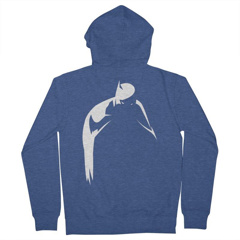 Bat Shadow Men's Zip-Up Hoody by Fly Nebula Store