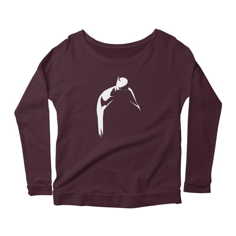 Bat Shadow Women's Longsleeve T-Shirt by Fly Nebula Store