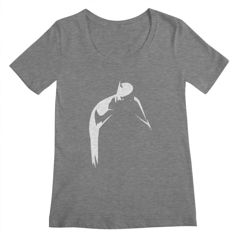 Bat Shadow Women's Scoopneck by Fly Nebula Store