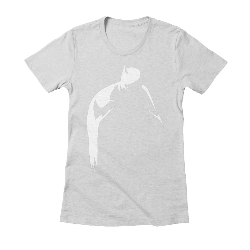 Bat Shadow Women's Fitted T-Shirt by Fly Nebula Store