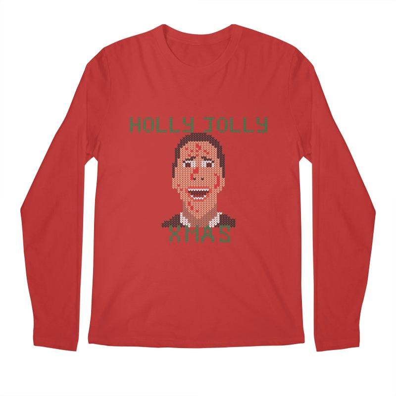 Holly Jolly Xmas Men's Longsleeve T-Shirt by Fly Nebula Store