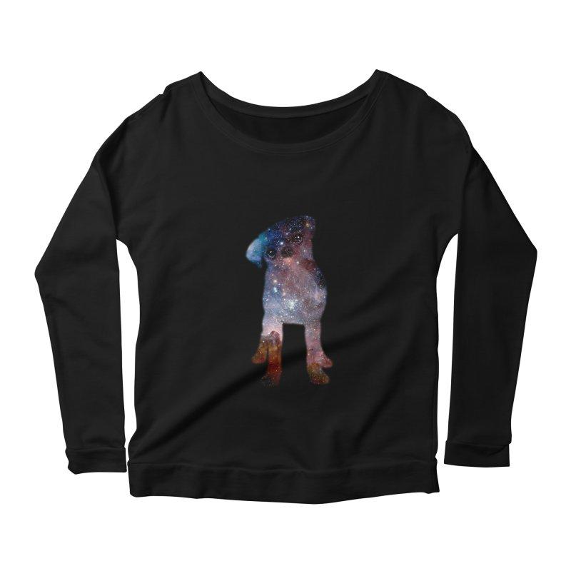 Pug Nebula Women's Longsleeve Scoopneck  by Fly Nebula Store