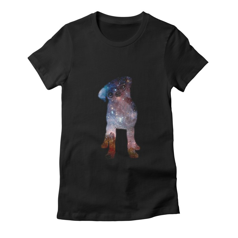 Pug Nebula Women's Fitted T-Shirt by Fly Nebula Store