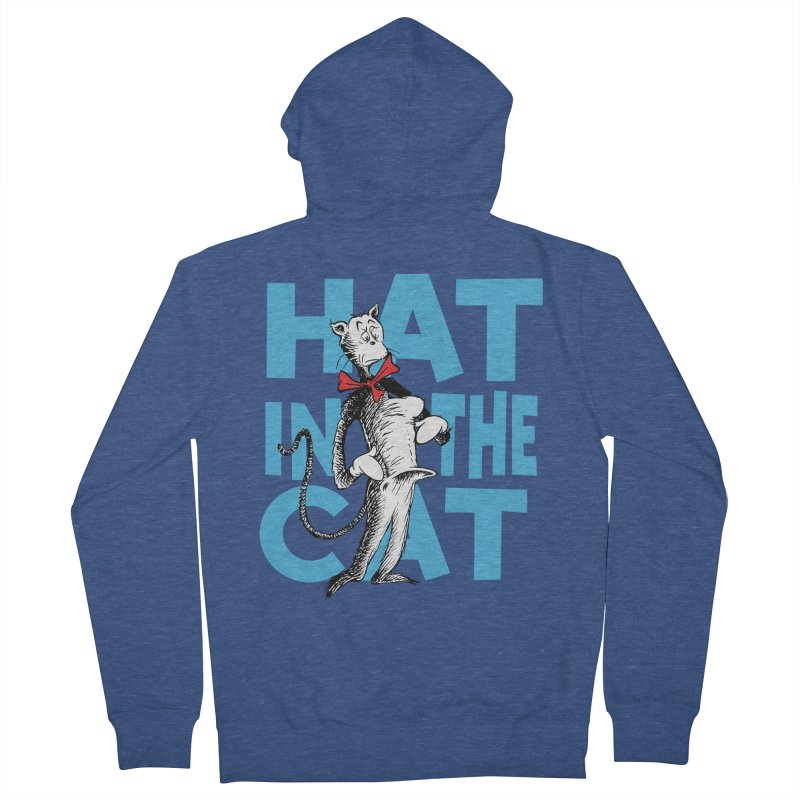 Hat in the Cat Women's French Terry Zip-Up Hoody by Flynnteractive's Artist Shop