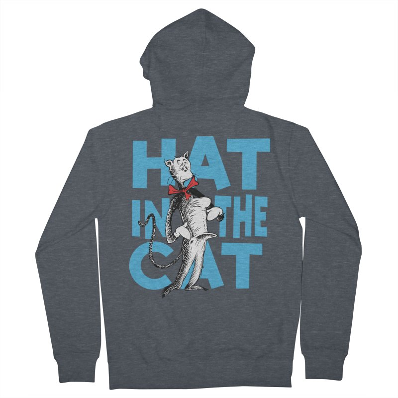 Hat in the Cat Men's French Terry Zip-Up Hoody by Flynnteractive's Artist Shop