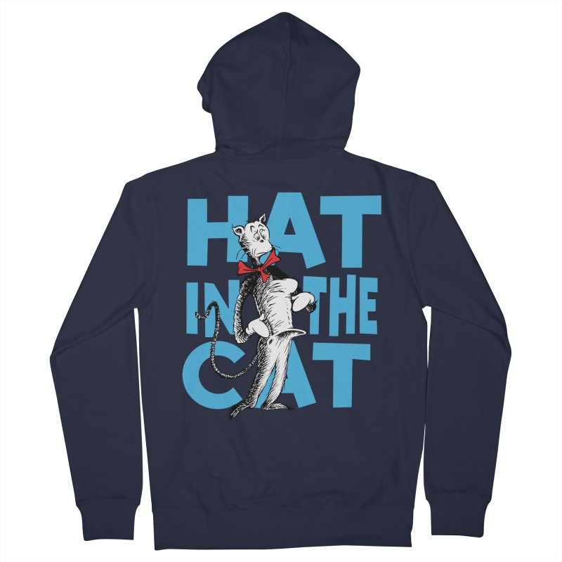 Hat in the Cat Men's Zip-Up Hoody by Flynnteractive's Artist Shop