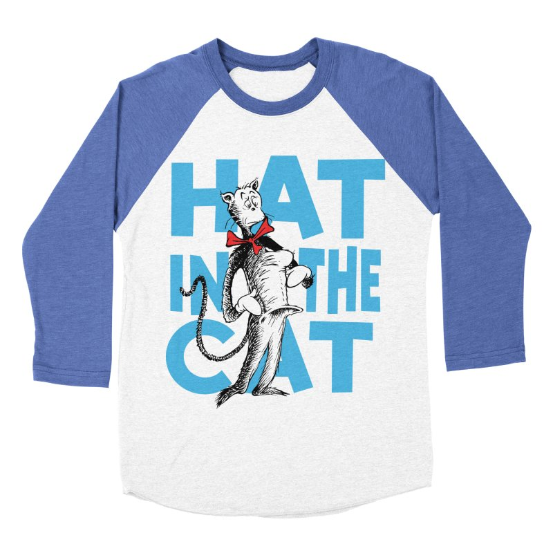 Hat in the Cat Women's Baseball Triblend Longsleeve T-Shirt by Flynnteractive's Artist Shop