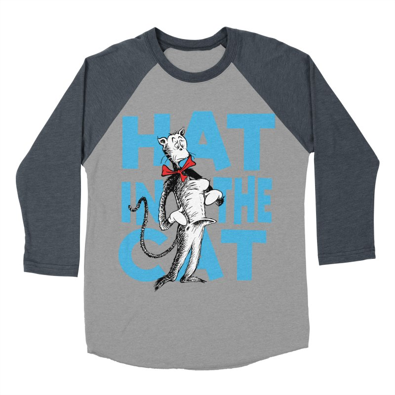 Hat in the Cat Men's Baseball Triblend T-Shirt by Flynnteractive's Artist Shop