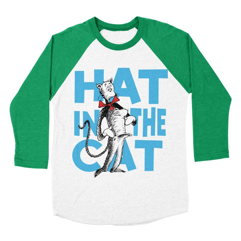 Hat in the Cat Men's Baseball Triblend T-Shirt by Flynnteractive's Artist Shop