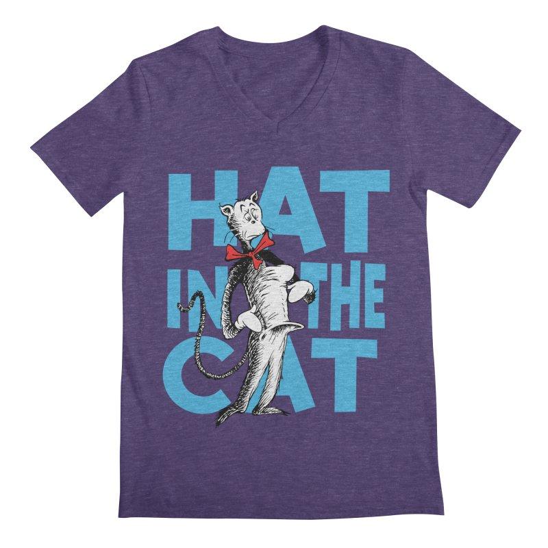 Hat in the Cat Men's V-Neck by Flynnteractive's Artist Shop