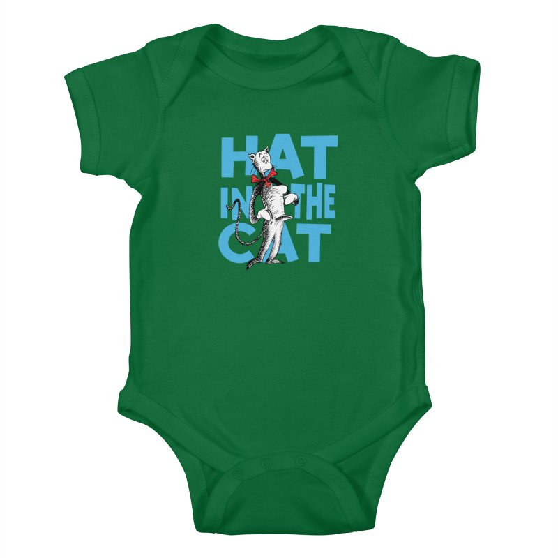 Hat in the Cat Kids Baby Bodysuit by Flynnteractive's Artist Shop