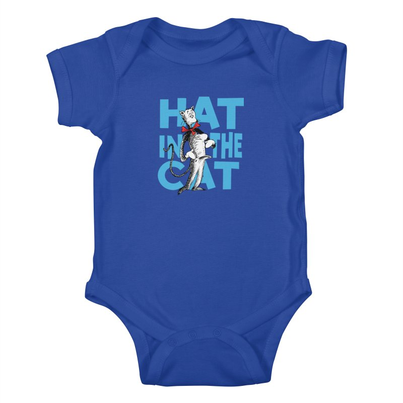 Hat in the Cat Kids Baby Bodysuit by Flynnteractive's Artist Shop