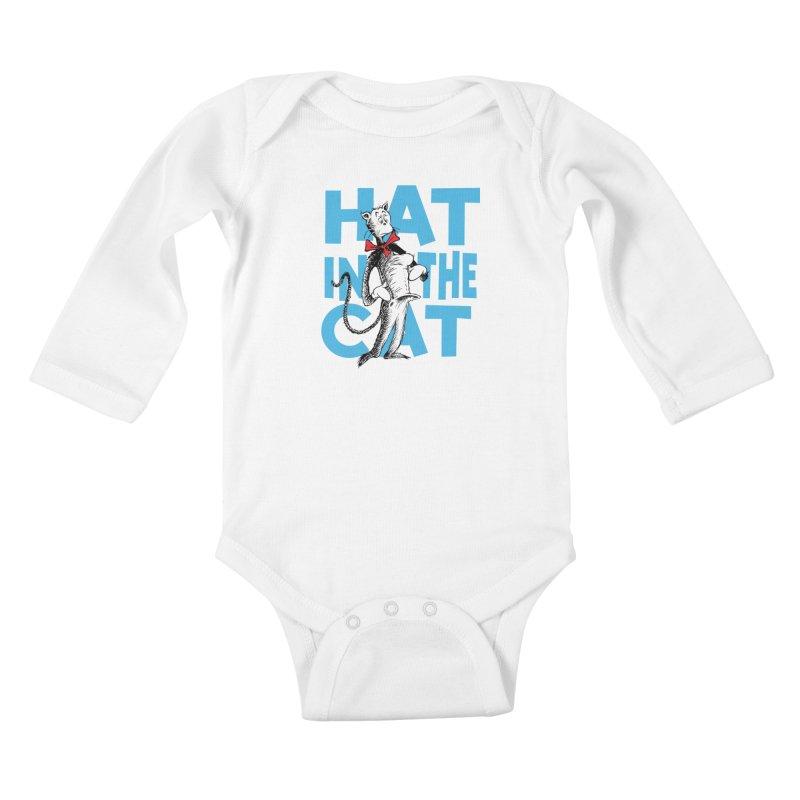 Hat in the Cat Kids Baby Longsleeve Bodysuit by Flynnteractive's Artist Shop