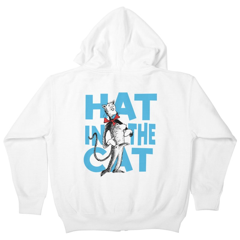 Hat in the Cat Kids Zip-Up Hoody by Flynnteractive's Artist Shop
