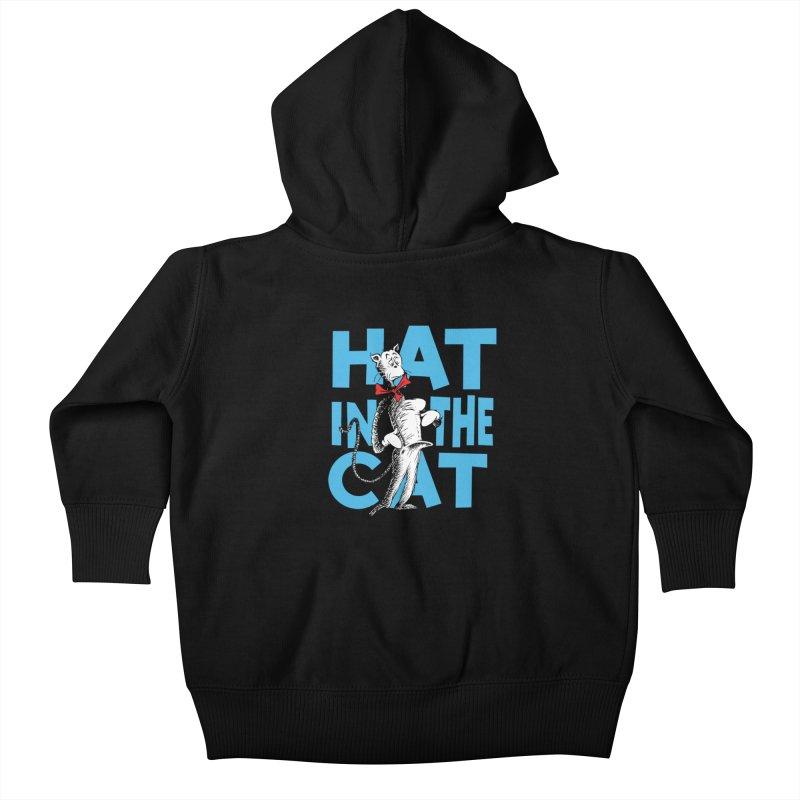 Hat in the Cat Kids Baby Zip-Up Hoody by Flynnteractive's Artist Shop