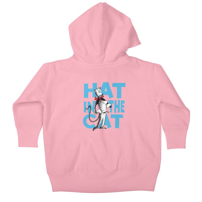 Hat in the Cat Kids Baby Zip-Up Hoody by Flynnteractive's Artist Shop